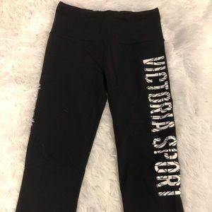 Black VS capri leggings